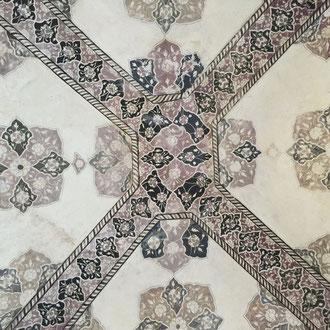 Mosaic Decke in Amber Fort Jaipur Rajasthan