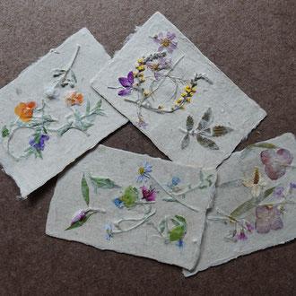 能登仁行和紙 壁紙 野集紙 自然素材