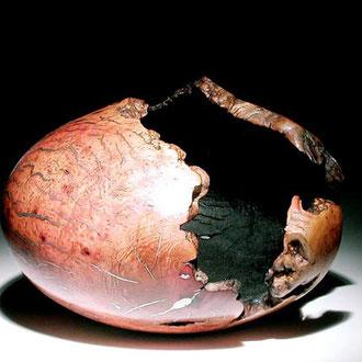 Pièce creusée - ronce de manzanita - dia 60 cm - 2005