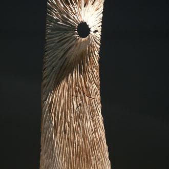 """Empreinte torse"" chêne brut h 70cm - 2018"