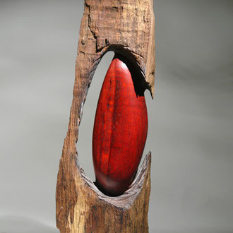 """Out of the wood"" chêne - h 70 cm - 2008"