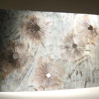 """Le mur"" chêne - h 55 cm - 2010"