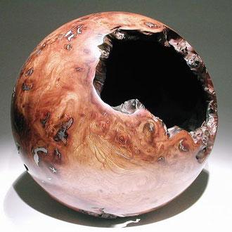 """""""Sphère"""" loupe d'orme, étain - dia 44 cm - 2000"""
