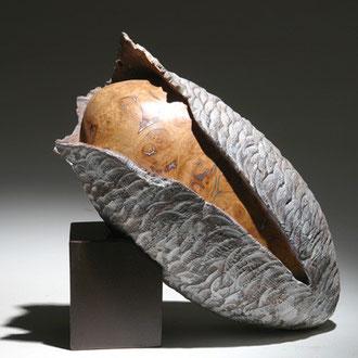 """""""Cocon érable"""" loupe d'érable - h 30 cm - 2008"""