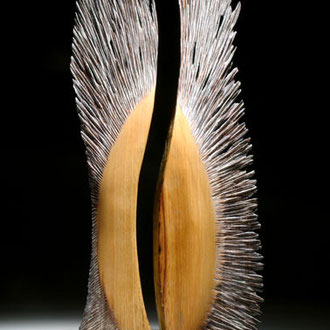 """""""Rencontre"""" frêne - h 60 cm - 2006"""