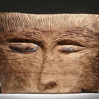 """""""Regard"""" frêne - 45 x 65 cm - 2007"""