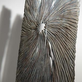 """Empreinte "" chêne - 184 cm - détail - 2010"