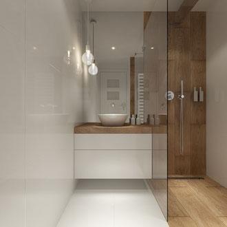 Projekt łazienek w  Stratford- Anglia