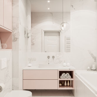 Nowoczesny projekt łazienki w Krakowie