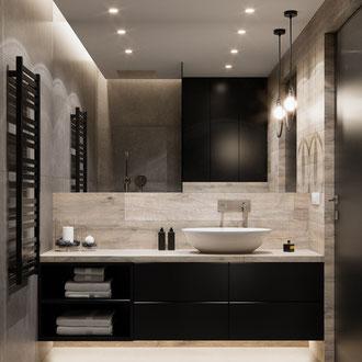 Projekt wnętrza nowoczesnej łazienki