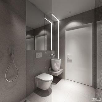 Projekt wnętrza designerskiej łazienki