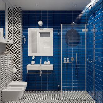 Projekt wnętrz łazienki w stylu vintage