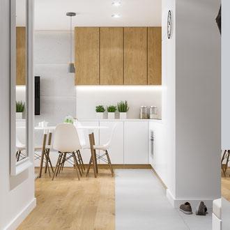 Projekt małego mieszkania na Nowych Czyżynach