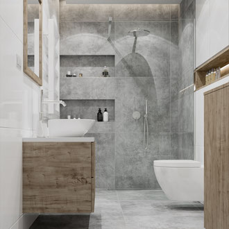 Nowoczesny projekt łazienki w Krakowskim mieszkaniu