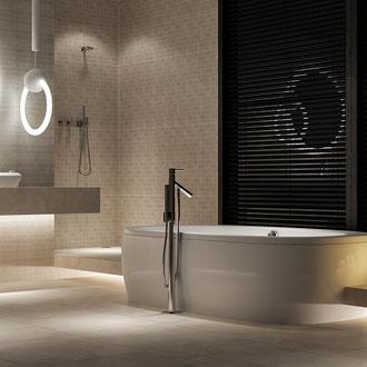 Projekt wnętrza łazienki z wanną wolnostojącą