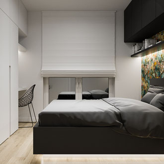 Projektowanie wnętrz Dobczyce, projekt sypialni