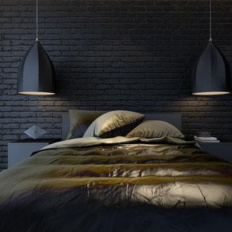 Projekt wnętrza męskiej sypialni