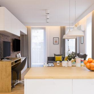 Projekt wnętrza funkcjonalnego mieszkania