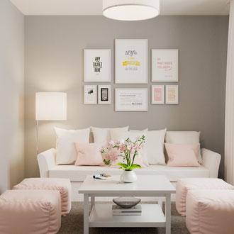 Projekt wnętrz pokoju gościnnego w stylu skandynawskim