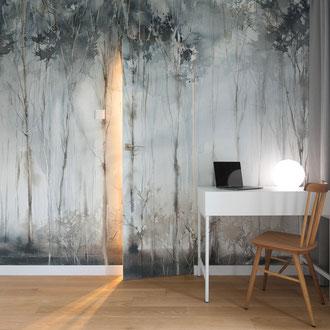 Projekt mieszkania, Kraków Sikorki, styl nowoczesny, skandynawski, architektura wnętrz