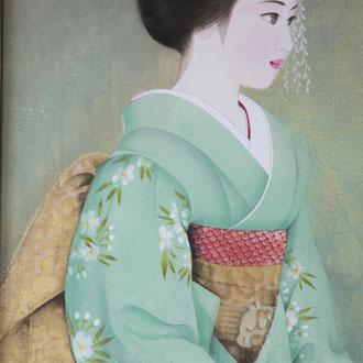 日本画16一人舞子