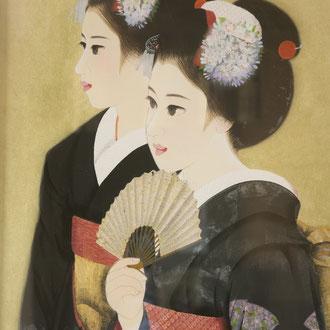 日本画二人舞子