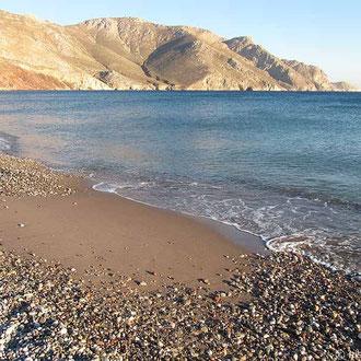 Am Strand in Eristos