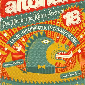 Plakatwettbewerb Altonale Kulturfestival in Hamburg, 1. Platz