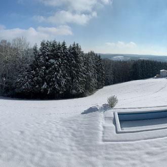 Aussicht Mittelstation im Winter