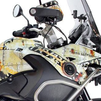 Dekor AVIATOR PETROL - Keine Aufkleber aber Carwrap-Folie fuer BMW R1200GS K25 und K50 K51 LC normal und Adventure