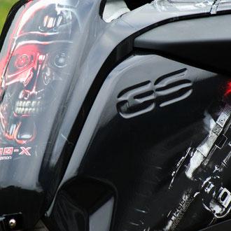 Tank: Design Folie Terminator T1200X - Keine Aufkleber aber Carwrap-Folie fuer BMW R1200GS K25 und K50 K51 LC normal und Adventure