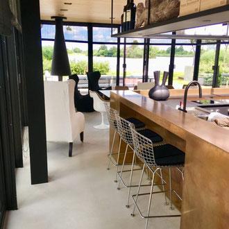 Metall buro exclusiv putz gold bronze silber rost küche Keuken wohnen wonen statement charakter interior architektur luxus elegant robust
