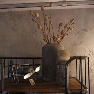 Sichtbeton fake beton nicht echt rau elegant robust rustikal steine wand kamin