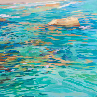 Mediterranean waters. Acrylic on canvas. 70x 70cm.*