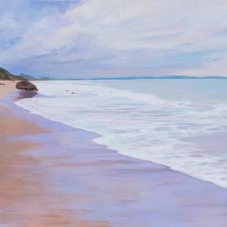 Santander. Playa de Meron. Acrylic on paper.