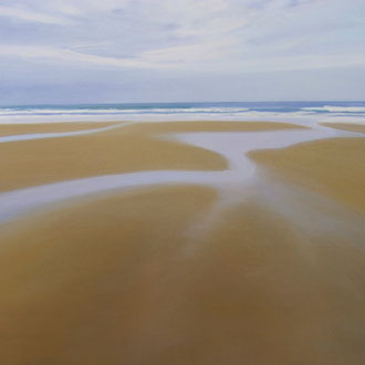 Oyambre, low tide. 100 x 81 cm.Acrylic on canvas.