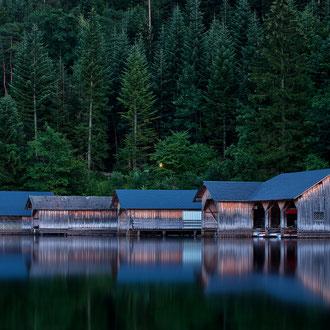 Bootshütten am Altausseer See