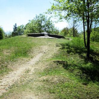 Die erhöhte Lage des Bunkers