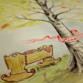 Segensbaum einzigartig besonders individuell zur Geburt