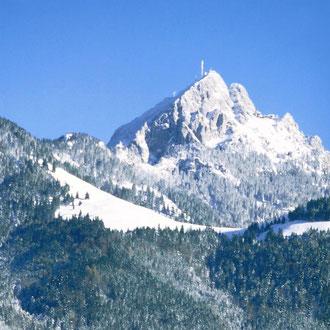 Winterlandschaft Wendelstein mit Skigebiet