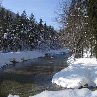 Winterimpressionen an der Mangfall
