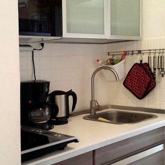 Apartment 2, moderne Einbauküche