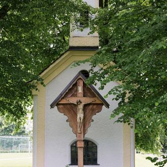 Unsere Kapelle am Sportplatz. Aufnahme aus 2015.
