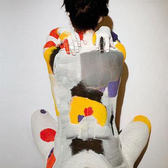 -2-EM- Peinture sur corps-Photographie sur toile-Ed limitée 50x70 de 10ex-