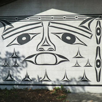 "Makah Museum Mural ""Treasure Box"" 2013"