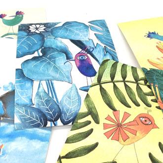 Kunstkarten, Kunst, Kartendesign, Illustration, Geschenk, Geburtstag, Hochzeit,