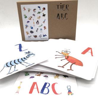 TIER ABC, Lernen, Schule, Buchstaben, Kinder, Kinderzimmer, Kindergeschenk