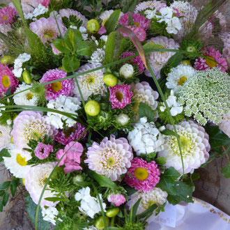 Herz mit Sommerblumen