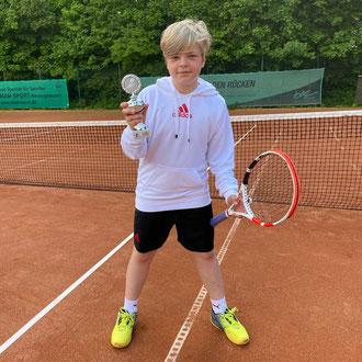 Tim Friese 1. Platz Jüngsten-Regionsmeister 2021 in der Altersklasse U9/10