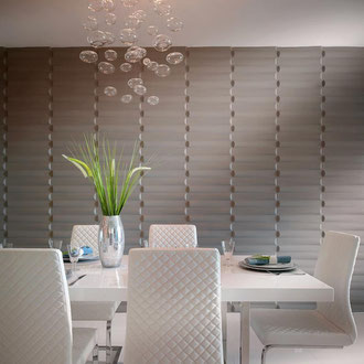 modern dining room interior design project by Mia Hom Trends
